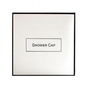 1_White & Black Shower Cap