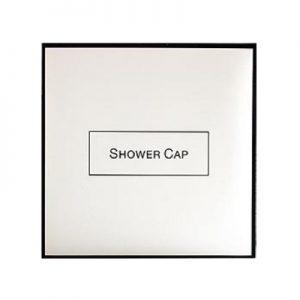 1_White & Black Shower Cap
