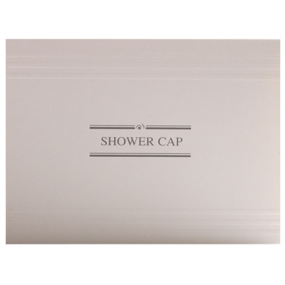 1_White & Grey Shower Cap