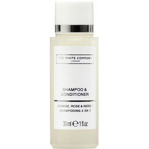 2_The White Company Flowers 30ml Shampoo & Conditioner