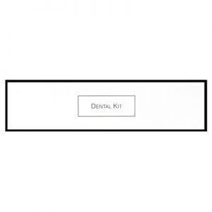 7_White & Black Boxed Dental Kit with 10g Colgate
