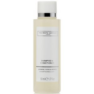 8_The White Company Flowers 50ml Shampoo & Conditioner