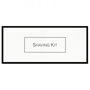 8_White & Black Boxed Shaving Kit